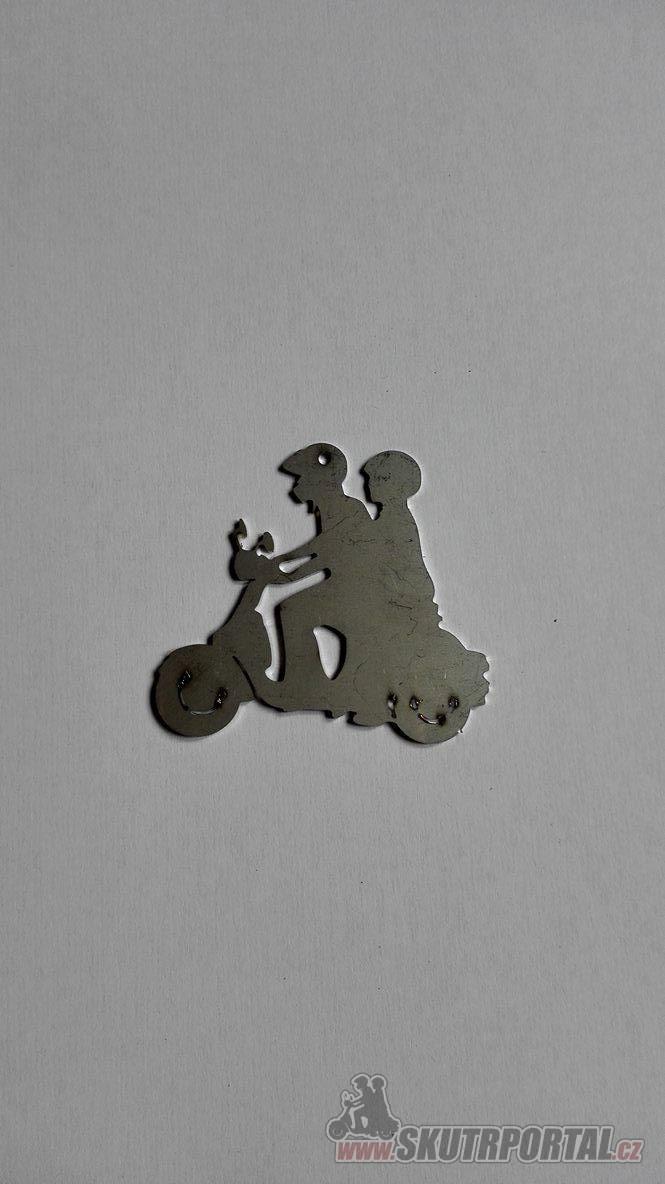 Přívěsek na klíče z nerezu, velikost 7 cm