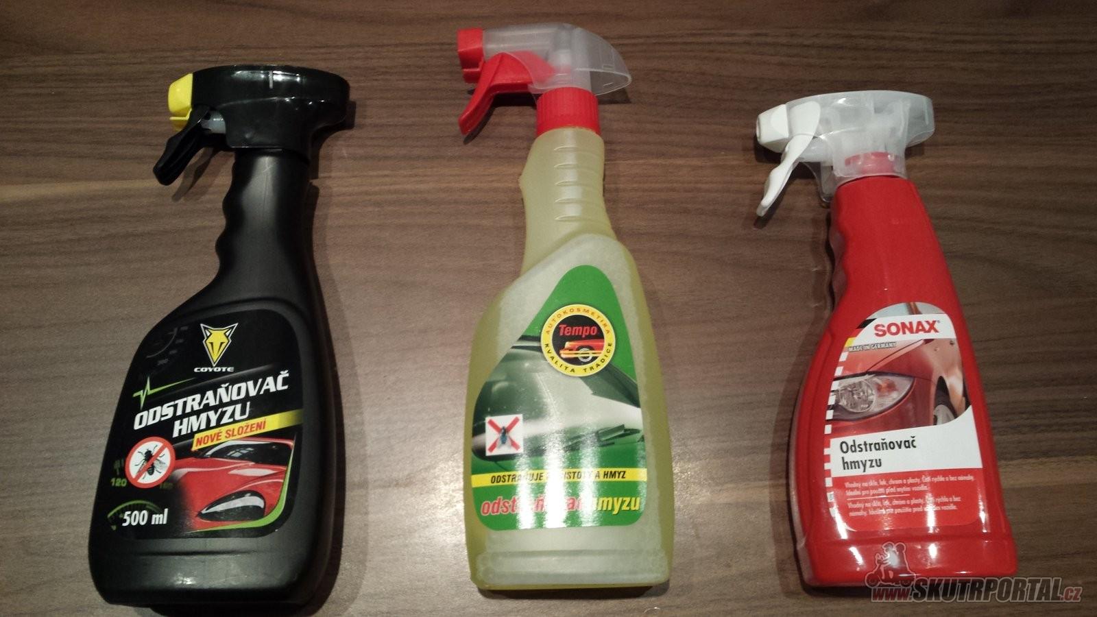Malé srovnání přípravků na odstranění hmyzu