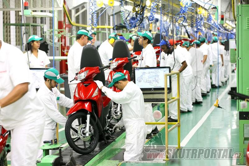 Celkový počet motocyklů Honda vyrobených v Brazílii dosáhl hranice 20 milionů