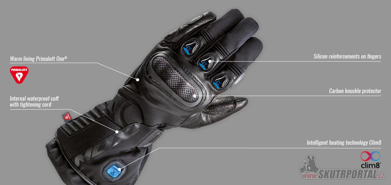 Inteligentní vyhřívané rukavice IXON