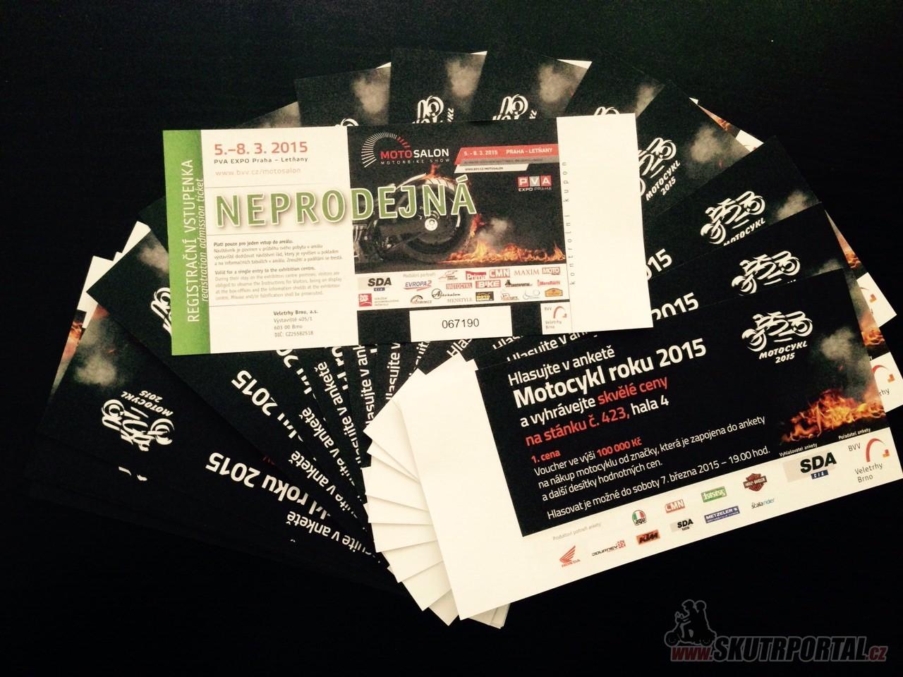 Rychlosoutěž o 16 vstupenek na MOTOSALON 2015