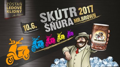Skútr Šňůra 2017 s Mr.Brown