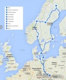 001: Švédsko a Norsko na skútru aneb 6369 km v sedle