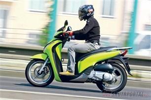Honda SH 150i. Miláček davů vnovém dresu