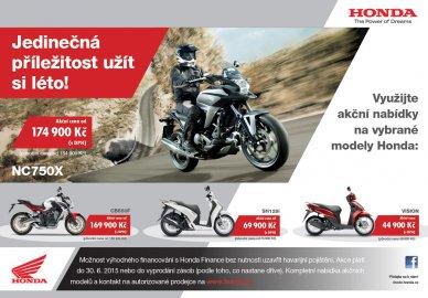 Honda zlevňuje vybrané modely