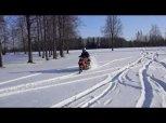 S Roxem ve sněhu...